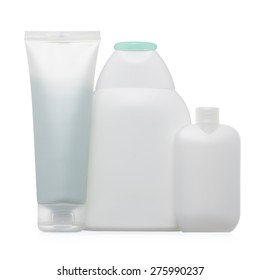 Blank plastic package with hygiene products isolated