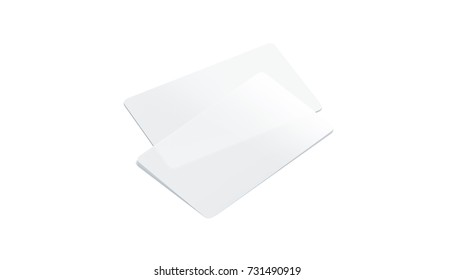 Blank Plastic Transparent Business Cards Mockup Isolated 3d Rendering Clear Pvc Namecard Mock Up