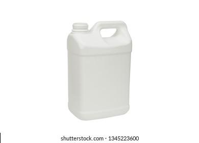 blank plastic white bottle