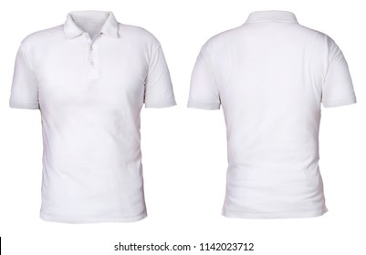 Polo shirt template images stock photos vectors shutterstock blank polo shirt mock up template front and back view isolated on white maxwellsz