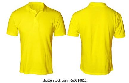 Vector Illustration Blank Yellow Men Tshirt Stock Vector Royalty