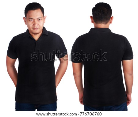 19b3b33fa367 Blank Polo Shirt Mock Up Front Stock Photo (Edit Now) 776706760 ...