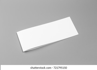 Blank portrait. changeable background / white paper isolated on gray. identity design, corporate templates, company style, set of booklets, blank white folding paper flyer