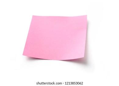 Blank post it sticker on white background.