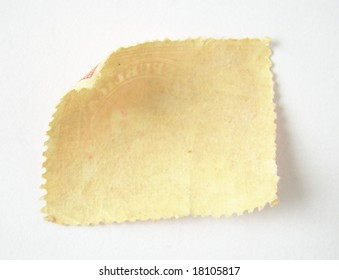 Blank postage stamp on white background