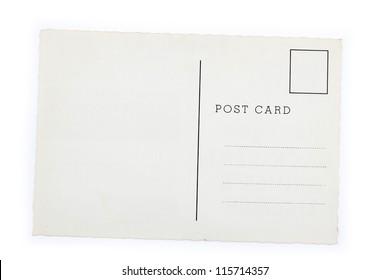 blank postcard on plain background