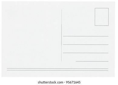 Blank postcards isolated in high resolution