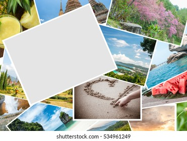 Blank postcards on Travel Pictures - can be used for display your products or promotional and advertising posters.