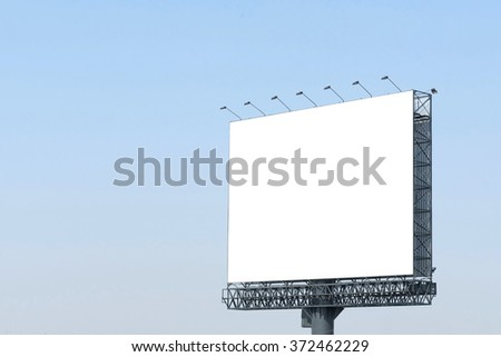 blank poster board wall out side stock photo edit now 372462229