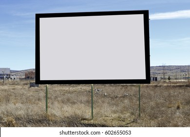 Blank poster on the street to put your advertisement