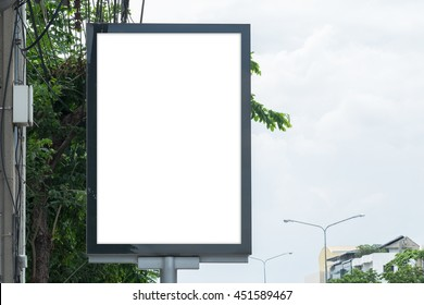 Blank Poster template for design in Bangkok, Thailand with clipping path