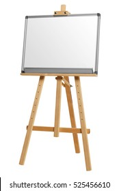 Blank presentation screen. White board for business. isolated on white background with clipping path