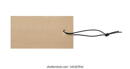Blank price label tag