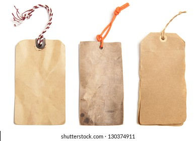 Blank price tag isolated on white background