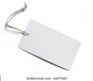 Blank price tag isolated on white with soft shadow, clipping path included - Shutterstock ID 63477667