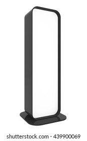 Blank Promotion Stand on a white background. 3d Rendering
