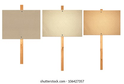 blank protest sign board