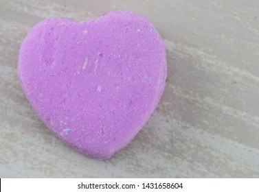Blank Purple Candy Heart with Copy Space to Right