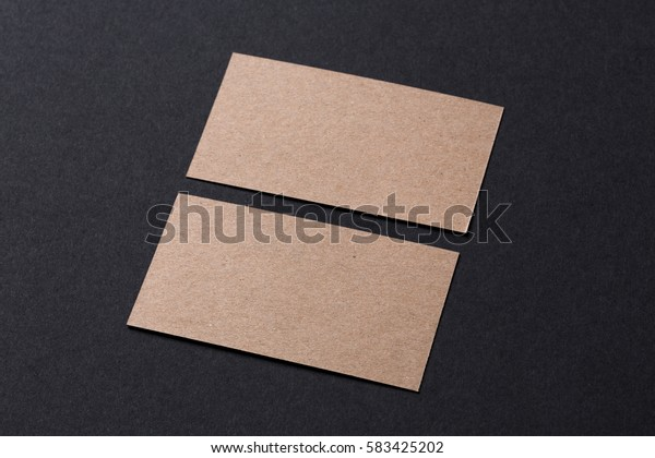 blank recycled paper business cards