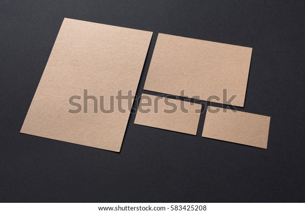 blank recycled paper stationery set