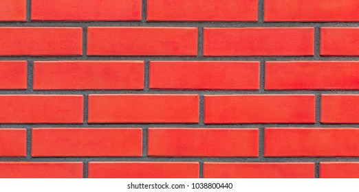blank red brick wall background texture, fragment of a brickwork