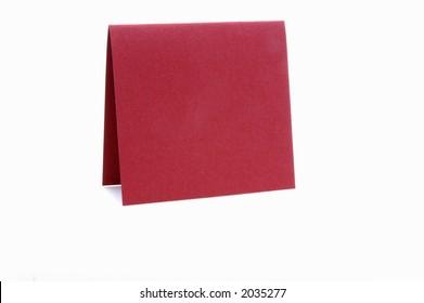 Blank red notecard