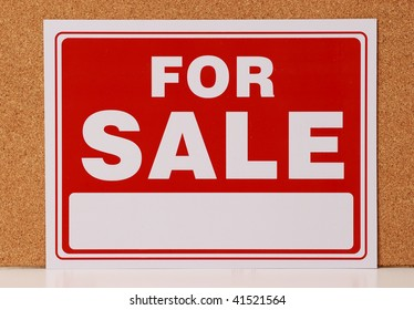 blank red for sale sign