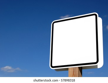 Blank road sign. Plenty of room to display your message
