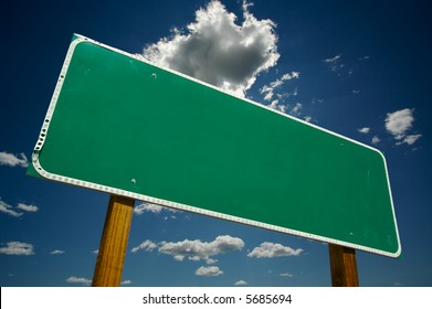 Blank Road Sign - Ready for your own message.