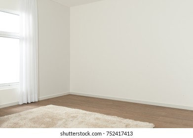Blank room with white window.