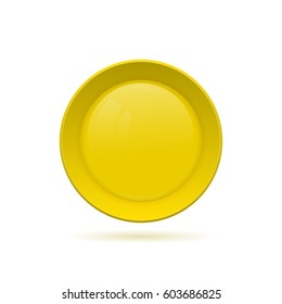 Blank round button for website. 3D glass button. Raster copy.