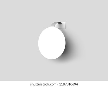Blank round wobbler hanging  on wall mockup