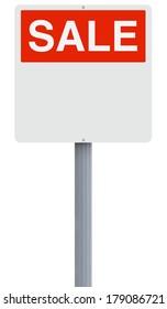 A blank sale signage