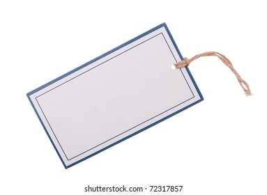 A blank sale tag isolated white