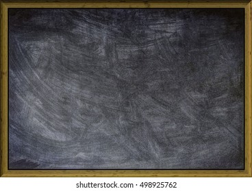A Blank School Black Board