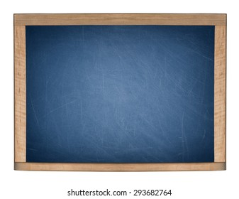 A blank school blueboard is isolated on a white background.