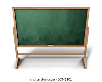 Blank school chalkboard (3d illustration)