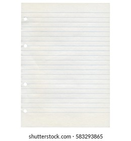 A blank sheet of paper isolated over white background