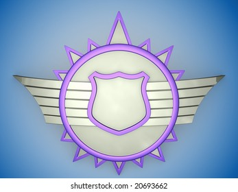 Blank shield figure for your text.