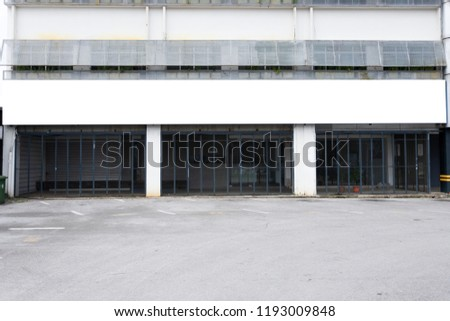 blank shop sign business company name stock photo edit now