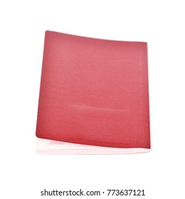 blank side of passport cover isolated on white background