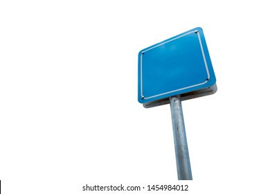 Blank sign blue color isolated on white background.