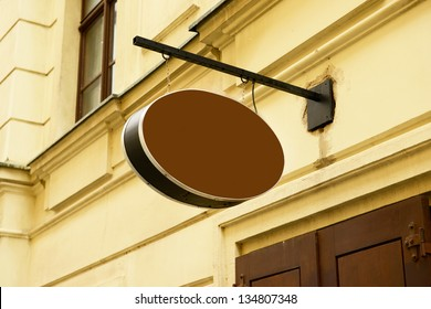 Blank sign of a cafe restaurant