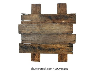 A blank sign made with real aged and weathered wood.  Place your own text or graphics on the wood slats.  Generous copyspace.