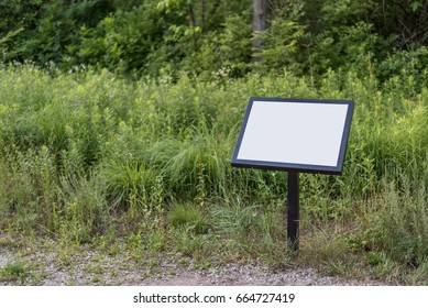 Blank sign in park