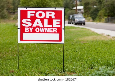 blank sign for sale by owner
