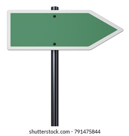 blank signpost on white background - 3d rendering