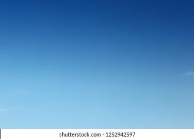 Blank sky surface