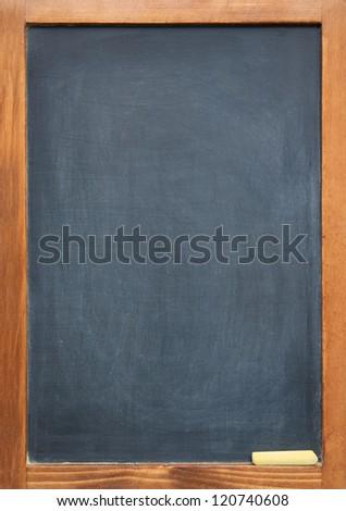 blank slightly dirty blackboard chalkboard wooden stock photo edit