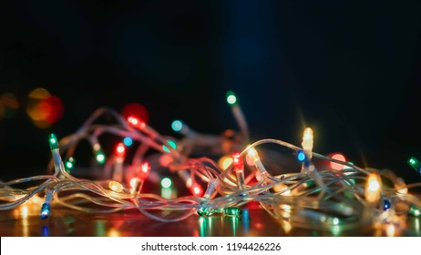 blank space and light Christmas decoration for background